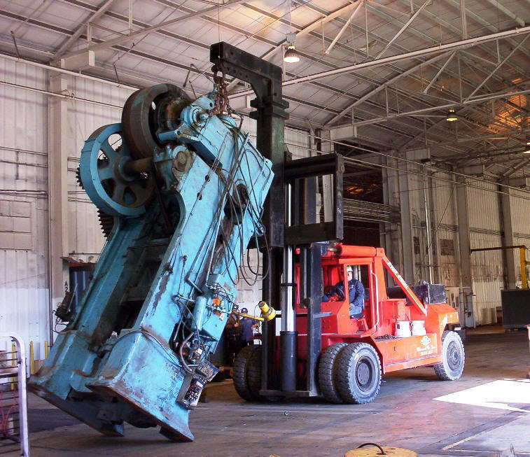 machinery moving, rigging, plant relocation, equipment rental, custom crating